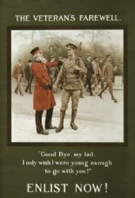 Vintage WW1 The veterans Farewell Poster (Coloured)